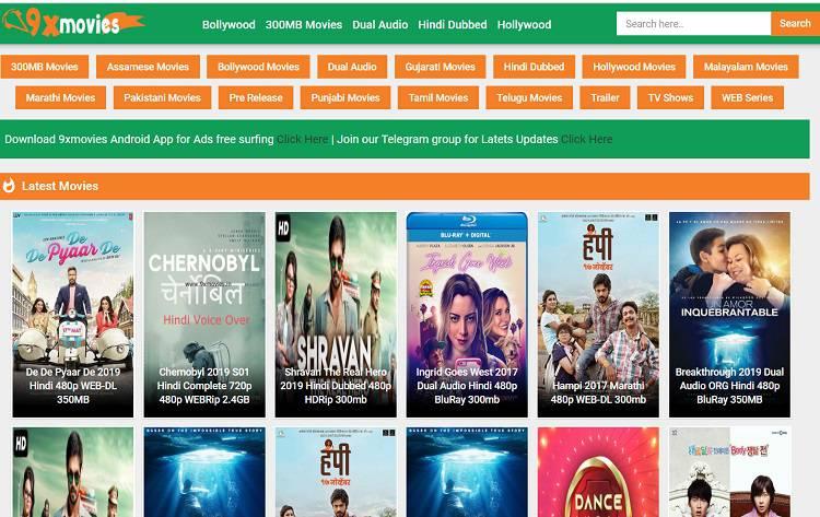 9xMovies – Latest Tamil, Telugu, Malayalam, Hindi Dubbed Movies