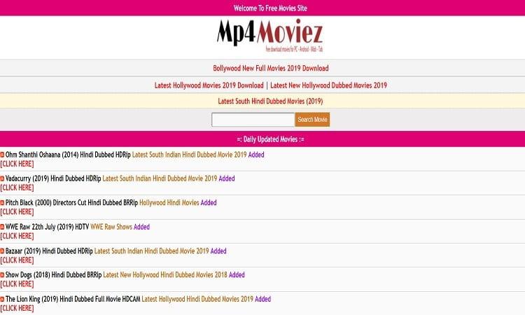 Mp4moviez -Movies Download Bollywood, Hollywood Hindi Dubbed