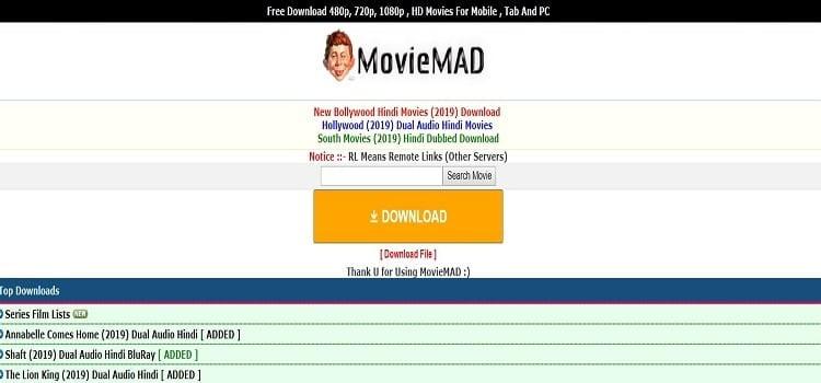 MovieMad - Bollywood HD Movies, Hollywood Movies, Hindi Dubbed